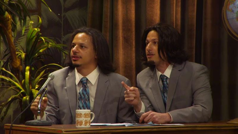 Illustration for article titled Here's an exclusive Eric Andre clip featuring Andy Samberg as Eric Andre