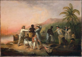 George Morland. Execrable Human Traffick, or The Affectionate Slaves. 1789. Oil on canvas. 85.1 x 121.9 cm. Menil Collection, Houston
