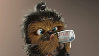 Illustration for article titled Baby Chewbacca isn't too cute to rip your arm off (but he's really cute)