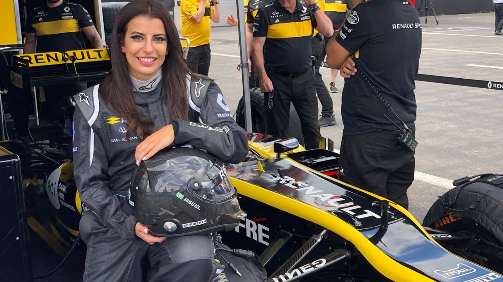 Aseel Al Hamad Drives A Formula One Car The Day The Saudi