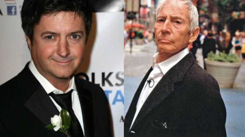 (Photo of Brian Dunkleman: Getty Images; Photo of Robert Durst: HBO)