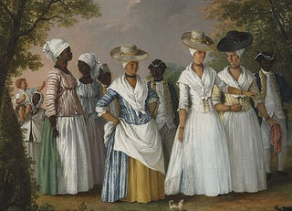 """Free women of color with their children and servants in a landscape"" by Agostino BruniasWikimedia Commons"