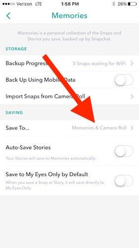 Como usar filtros snapchat em histrias instagram v para configuraes memrias salvar em e certifique se de que a opo de salvar as histrias no rolo da cmera esteja ativada ccuart Image collections