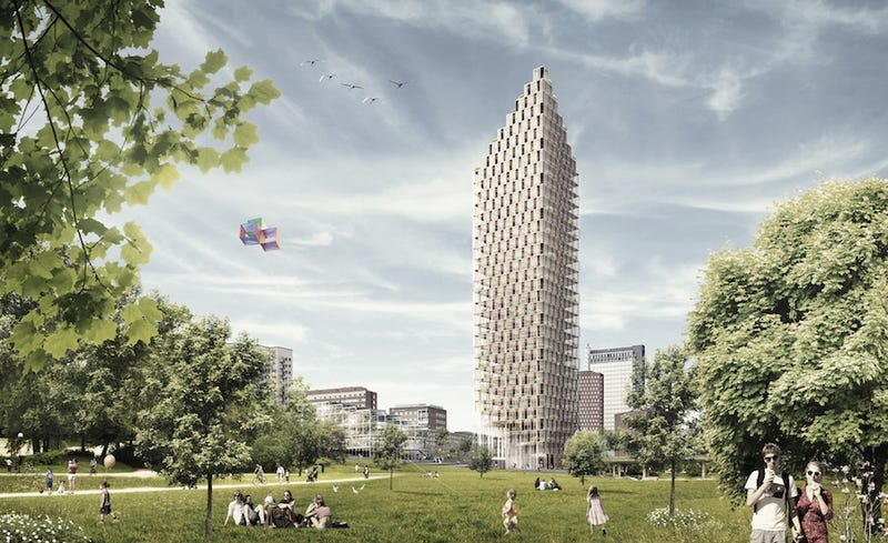 Illustration for article titled The Designers of the World's Tallest Buildings Aim to Build Wood Towers