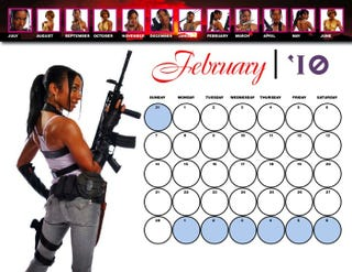 Illustration for article titled Resident Evil 5's Sheva Has Cheeky Pin-Up Calender