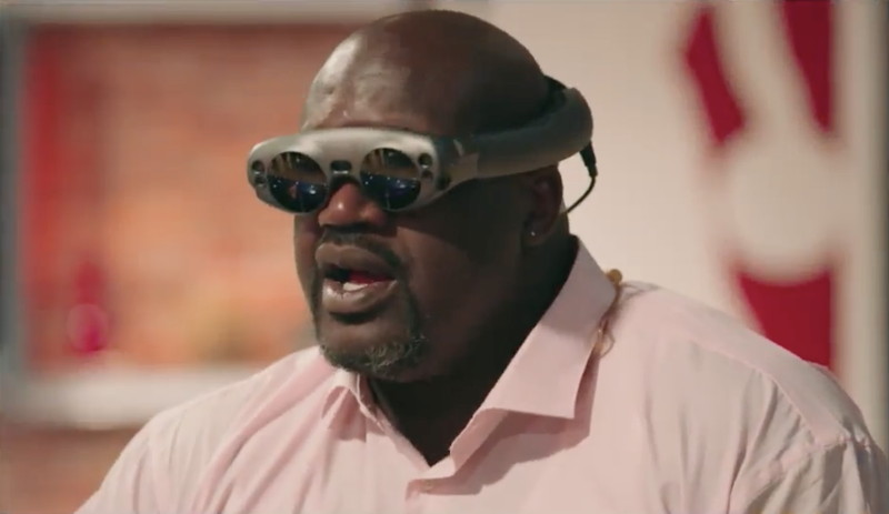 Image result for magic leap's headphones and Shaq
