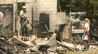 The cause of the fire at Glover Grove Baptist Church in Warrenville, S.C., has yet to be determined.ABC News screenshot