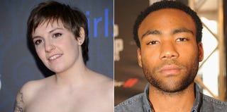 Lena Dunham, creator of HBO's Girls (Andrew H. Walker/Getty Images); Donald Glover (Chris McKay/Getty Images)
