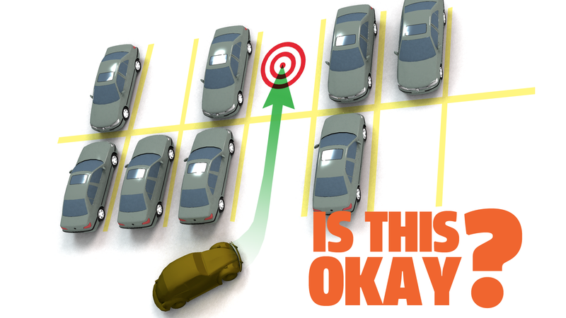 Illustration for article titled Is It Okay To Pull Through One Parking Spot Into Another Empty One?