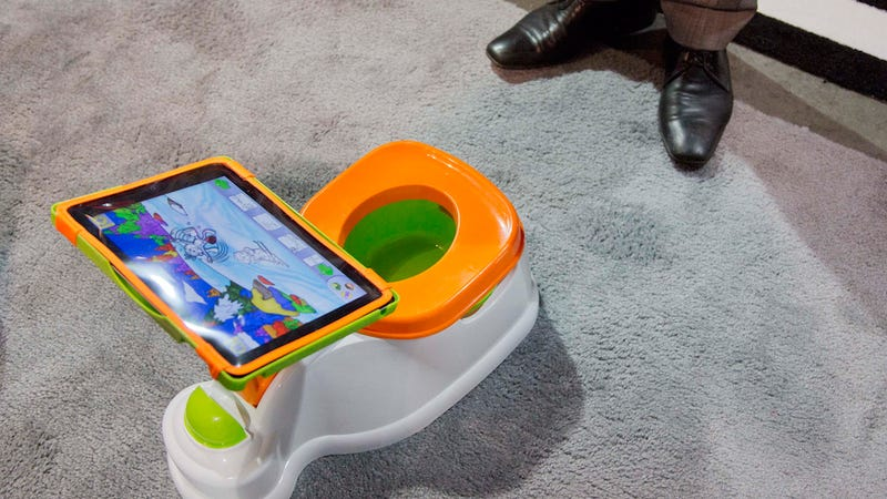 Illustration for article titled iPotty, The iPad-Holding Latrine for Tots, Officially 2013's Worst Toy