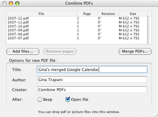 Share project materials in a single PDF file