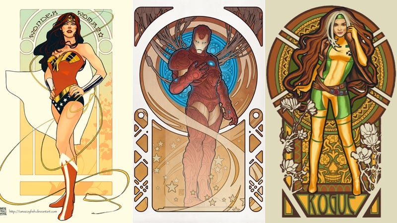 Illustration for article titled The Legion of Art Nouveau Heroes