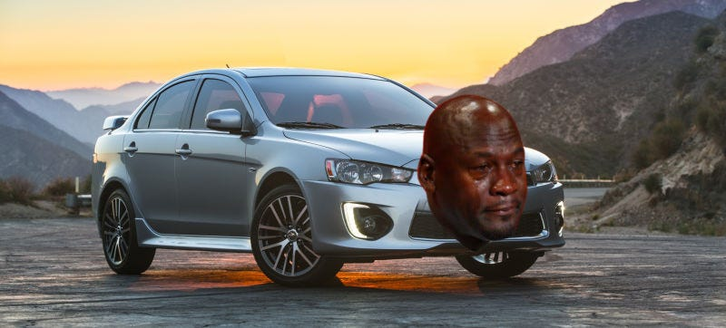 Illustration for article titled Comment Of The Day: Crying Mitsubishi Edition