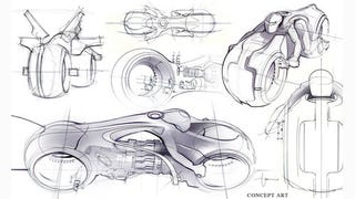 Illustration for article titled Tron vehicle concept art