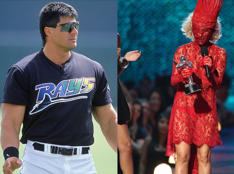 Illustration for article titled Jose Canseco Tweets Obsession With Lady Gaga, But He Spurned Madonna, So...