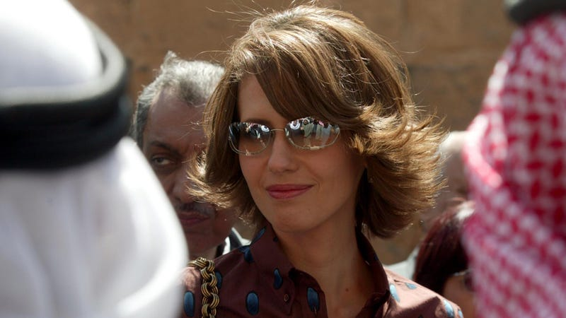 Illustration for article titled Syria's Charming First Lady Says She's the 'Real' Dictator
