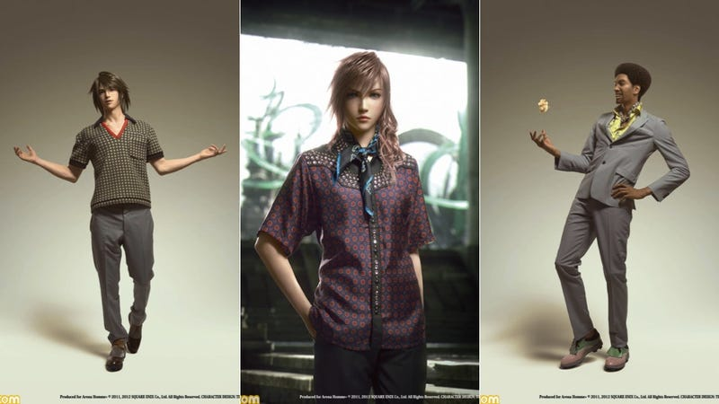 Illustration for article titled Final Fantasy Characters Are Now Modeling Italian Clothes