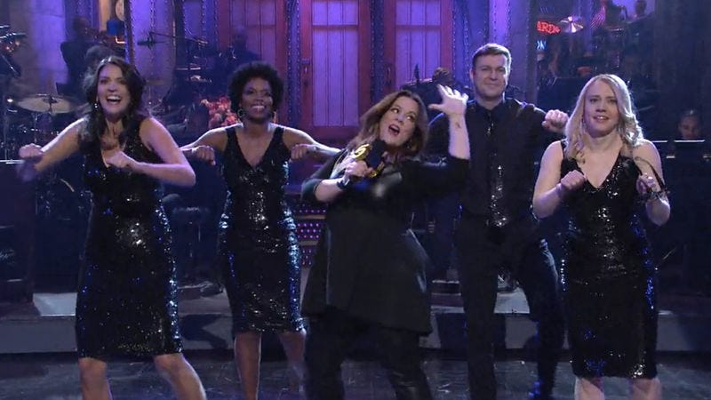 Cecily Strong, Sasheer Zamata, Melissa McCarthy, Taran Killam, Kate McKinnon (NBC)