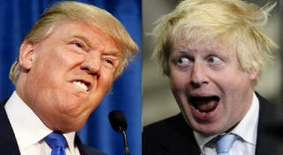 Illustration for article titled Those two insufferable demagogues, not only look relatively the same, think relatively the same and talk relatively the same