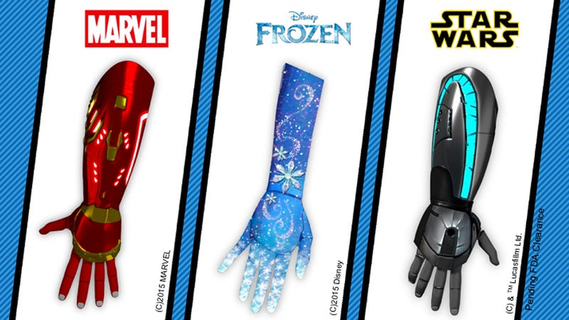 Illustration for article titled Iron Man, Frozen, and Star Wars Prosthetics Will Boost Kids' Confidence