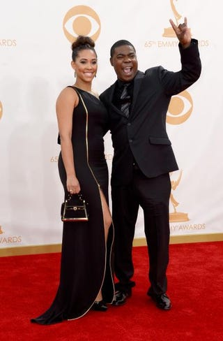 Model Megan Wollover and actor Tracy Morgan in 2013Frazer Harrison/Getty Images