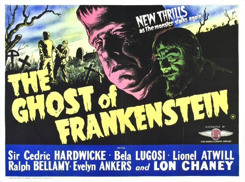 Illustration for article titled Svengoolie: The Ghost of Frankenstein (1942)