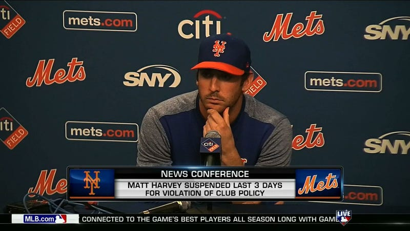 Illustration for article titled Matt Harvey Admits He Was Out After Curfew, Apologizes To Everyone