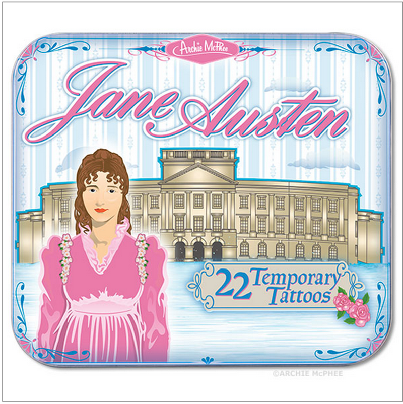 Illustration for article titled Jane Austen Temporary Tattoos; Can I Get a Nerdy Fuck Yes?