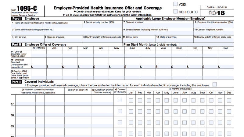 employee communication, examples for cobra, instructions fill, on 1095 form examples for c co
