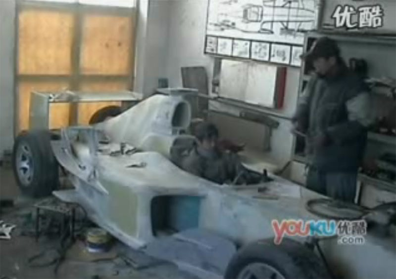 Illustration for article titled Chinese Brothers Build Working F1 Car Out Of Metal Scraps