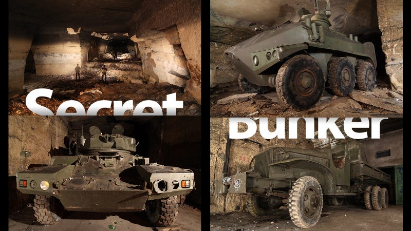 Illustration for article titled Secret Underground Bunker Is Full Of Decades-Old Weapons And Military Vehicles