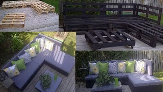 Pallet Patio Furniture turn wooden pallets into patio furniture