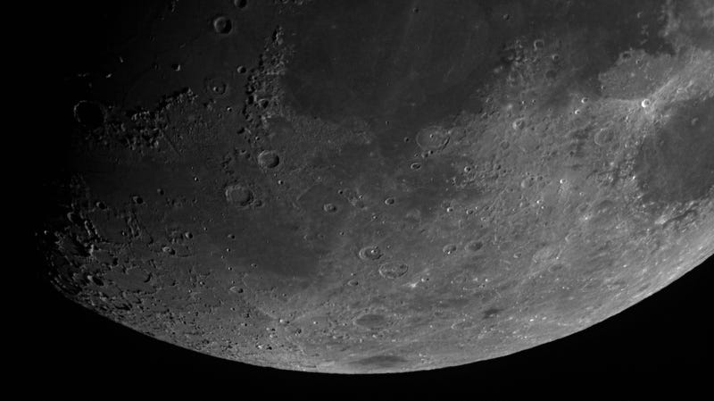 Scientists spotted frozen water in permanently shaded regions near the Moon's poles.