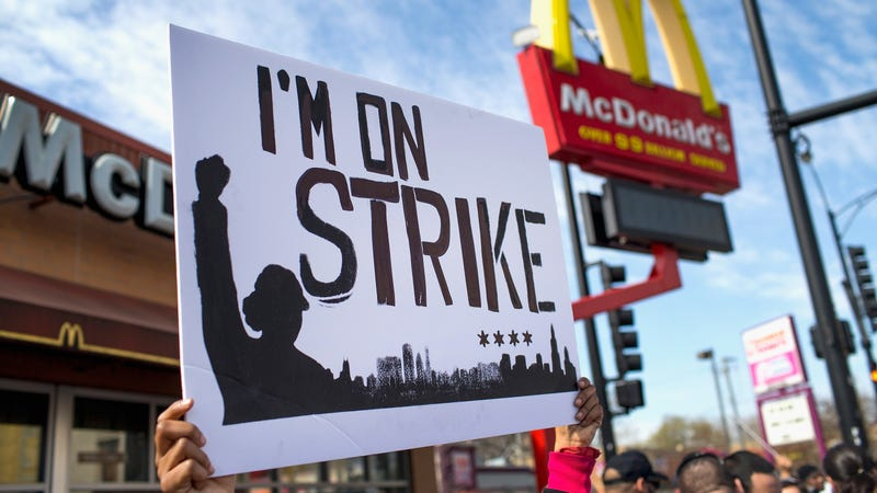 Illustration for article titled Women at McDonald's Prepare to Strike Over Sexual Harassment: 'We'll Be Doing More of These'