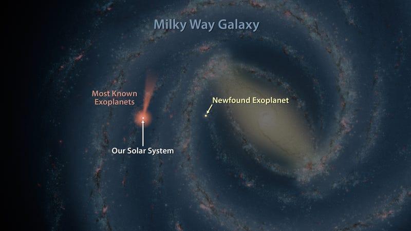 Illustration for article titled Descubren un remoto planeta gaseoso en la profundidad de la Vía Láctea