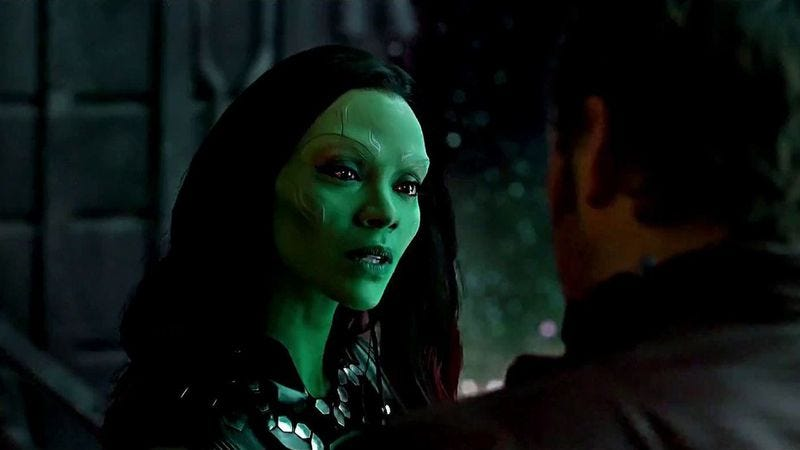 Saldana in Guardians Of The Galaxy