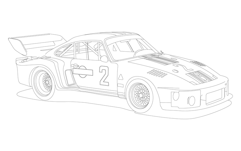 Illustration for article titled Porsche 935: Illustrated