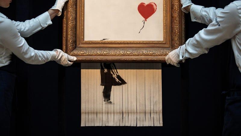 """Banksy's """"Love Is In The Bin"""""""