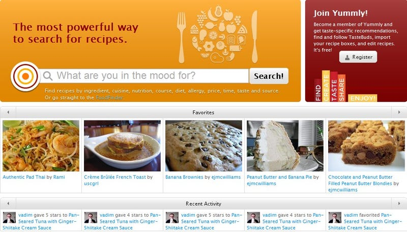 Yummly is a snappy and intuitive recipe search engine if youve been underwhelmed with other recipe sites because they seem to give you thousands of recipes but not a whole lot of useful information forumfinder Gallery