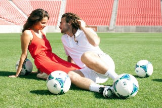 Illustration for article titled Kyle Beckerman's Engagement Photos Are A Treasure