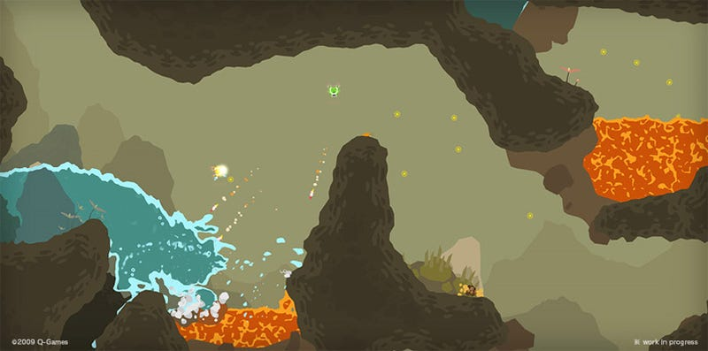Illustration for article titled PixelJunk Shooter Preview: Hot And Cold-Running Co-Op