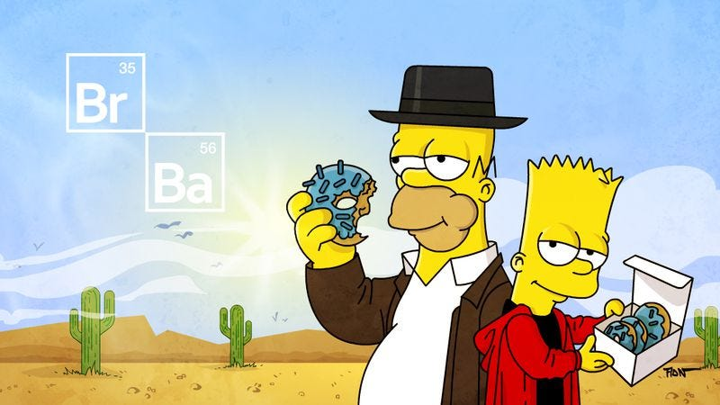 Illustration for article titled Watch: This week's Simpsons' couch gag is a tribute to Breaking Bad