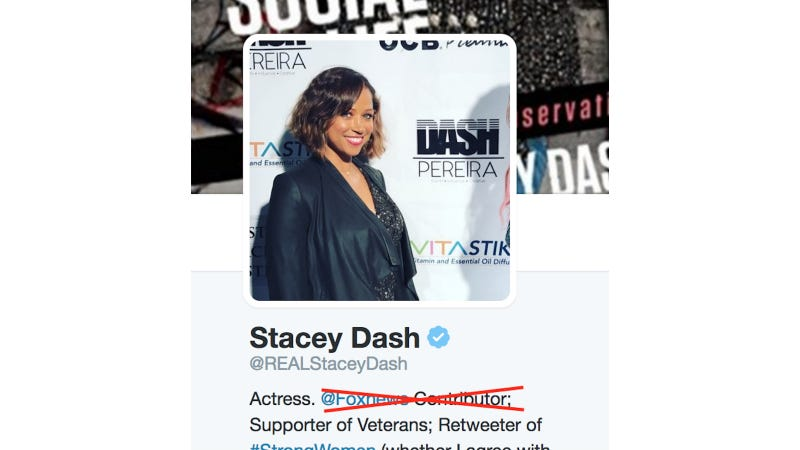 Illustration for article titled Sad: Stacey Dash Is Out of a Job at Fox News