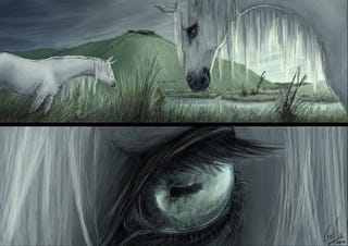 Illustration for article titled A Creepy Comic About Kelpies, Scotland's Murderous, Supernatural Horses