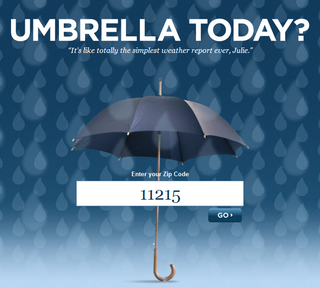 Illustration for article titled Umbrella Today? Answers That Question
