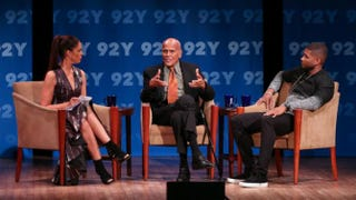 Soledad O'Brien, Harry Belafonte and Usher discuss social-justice issues at the 92nd Street Y in New York City Oct. 23, 2015.Laura Massa/92 Street Y