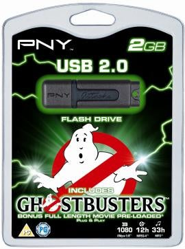 Illustration for article titled PNY 2GB Thumb Drive to Come Pre-Loaded with Ghostbusters, Make All Other Thumb Drives Look Humorless