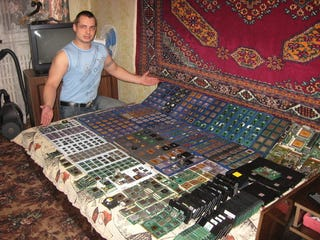 Illustration for article titled A Humble Russian Man Presents His CPU Collection