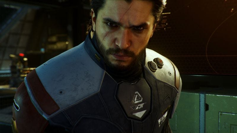 Kit Harington is the celebrity villain in this year's Call Of Duty. Screenshot: Official Call of Duty: Infinite Warfare – Story Trailer