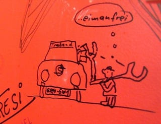 Illustration for article titled Trabant-Themed Art From The Bathroom Stalls of Geneva